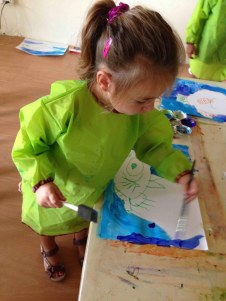 Painting a fish (Art and science for the 4 year olds)