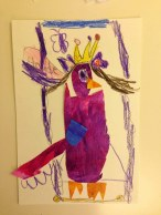 Collage (6 year old Lauraine) Observational Drawing class